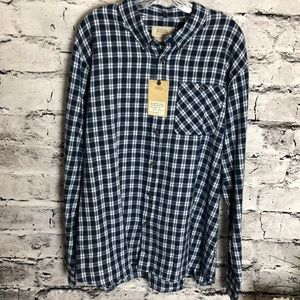 Men's Boston Traders Blue and White Flannel Shirt